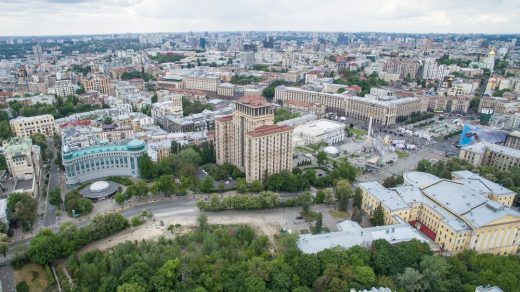 MRD aerial photo Alley of Heavenly Hundred view to Maidan