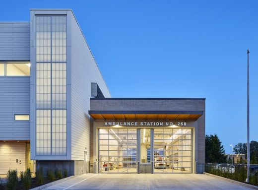 Cambie Fire Hall No 3 and BC Ambulance Services Station in Richmond design by Assembly Architecture and S2 Architecture