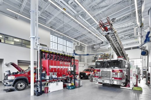 Cambie Fire Hall No 3 and BC Ambulance Services Station in Richmond