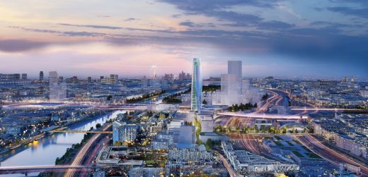 Charenton Bercy District Masterplan and Tower in Paris by SOM Architects