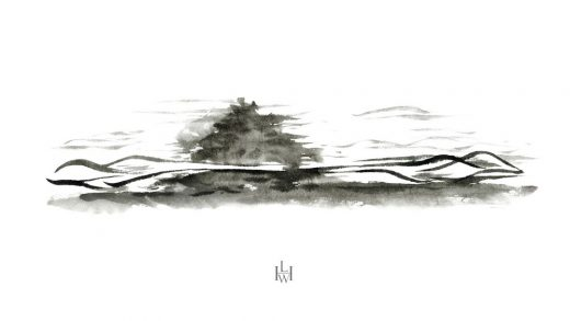 Cloud Garden of General Yisabu, Gangwon-do sketch