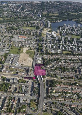 Felixstowe Road Housing Development, Abbey Wood, Bexley aerial photo of the site