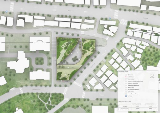 Youth Center Sport Seoul site plan