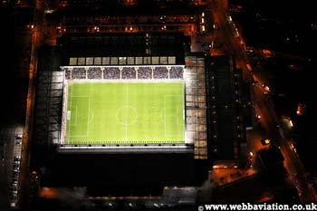 Anfield Stadium Liverpool football club from above