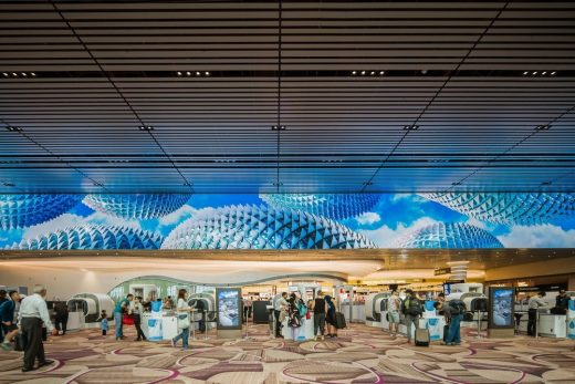 Changi Airport Interior in Singapore