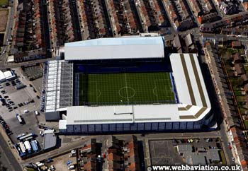 Everton Stadium Liverpool ground from above