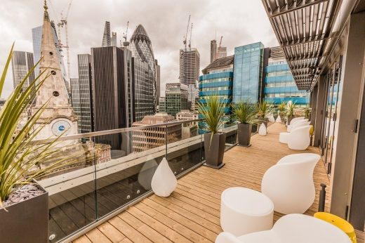 Jin Bo Law Skybar, Dorsett City Aldgate roof terrace