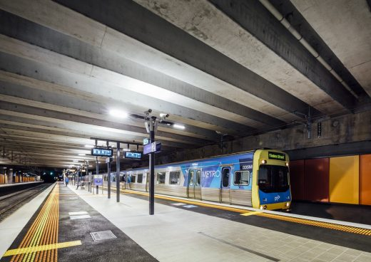 Ormond Station and North Road Level Crossing Removal in Melbourne
