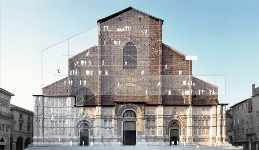 Facade of Basilica San Petronio in Bologna by Italian Architect office