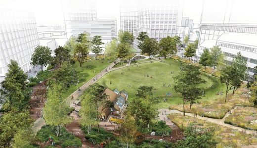 Canada Water Masterplan park by Allies and Morrison