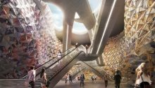 Clichy-Montfermeil metro station building interior by EMBT