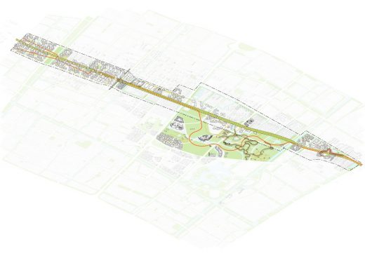 Fengpu Avenue Master Plan Fengxian New Town design proposal by Woods Bagot
