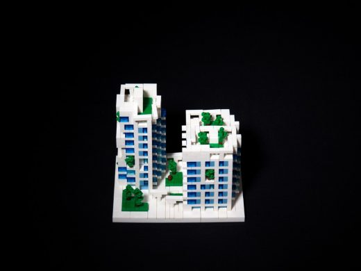 Kaohsiung Social Housing by Mecanoo lego model
