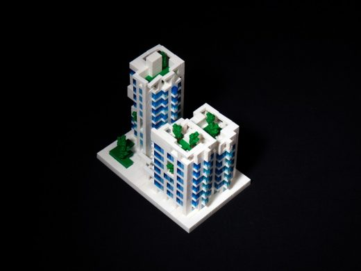 Kaohsiung Social Housing lego model by Mecanoo