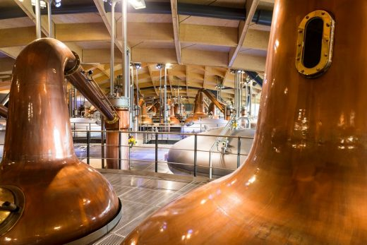 Macallan Distillery in Speyside Scotland