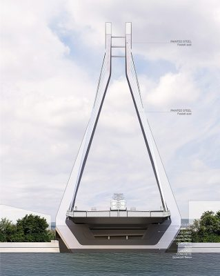 New Budapest Bridge section by UNStudio