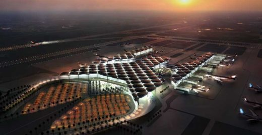 Queen Alia International Airport building design Jordan