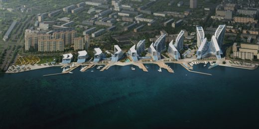 Admiral Serebryakov Embankment masterplan by Zaha Hadid Architects