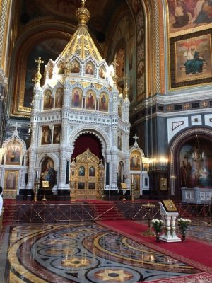 Cathedral of Christ the Saviour in Moscow interior