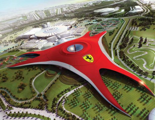 Ferrari World Abu Dhabi FWAD building design