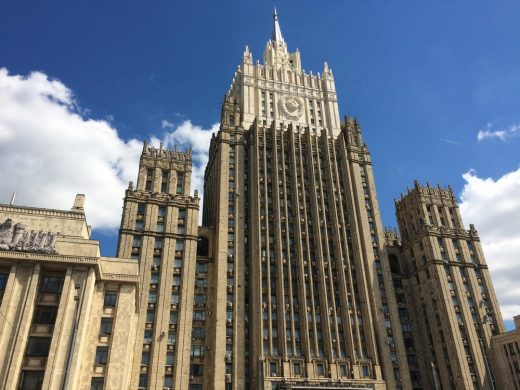 The Ministry of Foreign Affairs of Russia building in Moscow