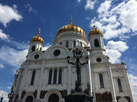 Russian Orthodox cathedral in Moscow