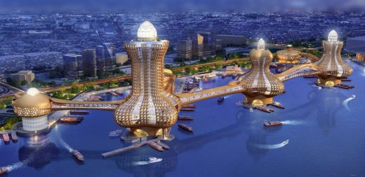 City of Aladdin Dubai Creek buildings design