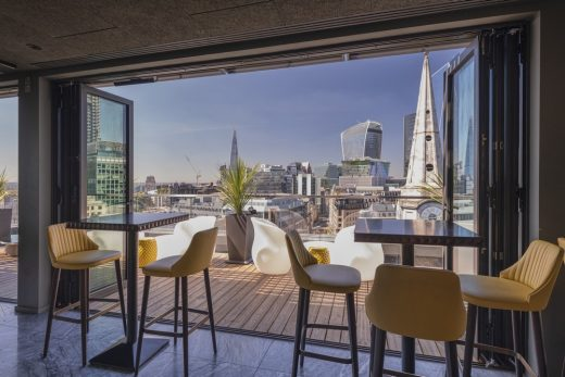 Jin Bo Law Skybar at Dorsett City Hotel in London