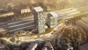 New Train Station Development in Altona, Hamburg