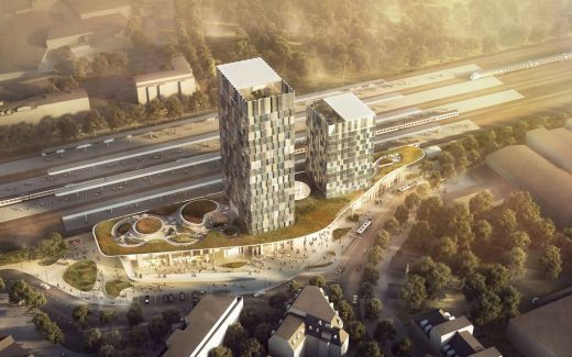 New Train Station Development in Altona, Hamburg - German architecture news