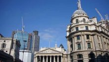 Royal Exchange London square and buildings