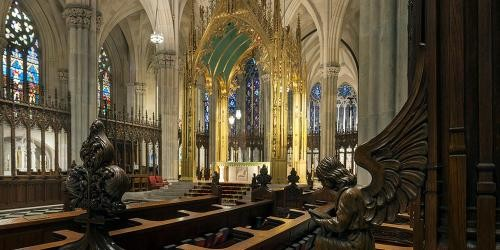 St. Patrick's Cathedral Building New York interior