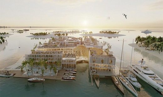 The Floating Venice The World Islands Dubai design UAE