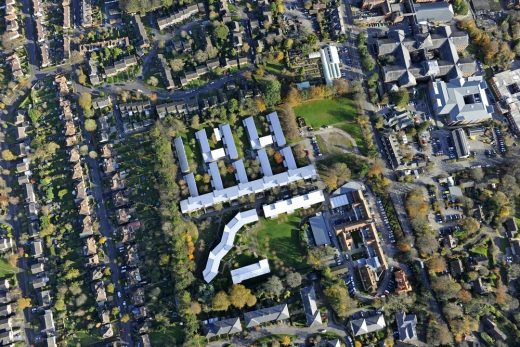University of Winchester West Downs campus aerial view