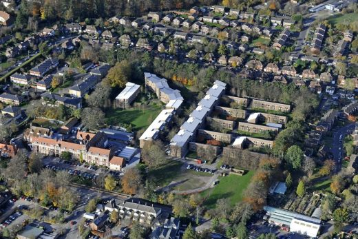 University of Winchester West Downs campus aerial photo