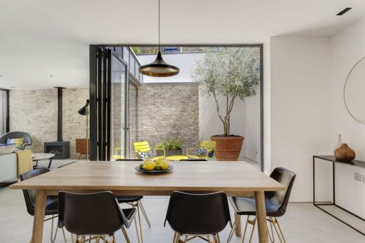 Small South London house dining room