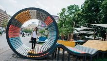 Hello Wood Pop Up Park in Downtown Budapest