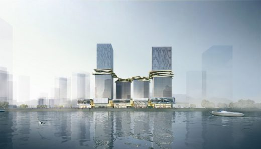 Hengqin CRCC Plaza Zhuhai buildings by Aedas Architects