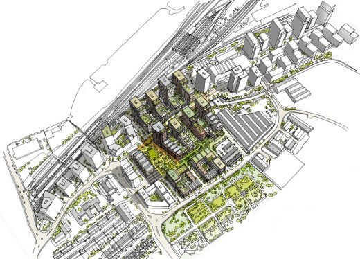 New Homes in Southall, Ealing masterplan design