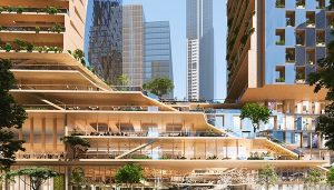 Southbank by Beulah in Melbourne proposal by UNStudio