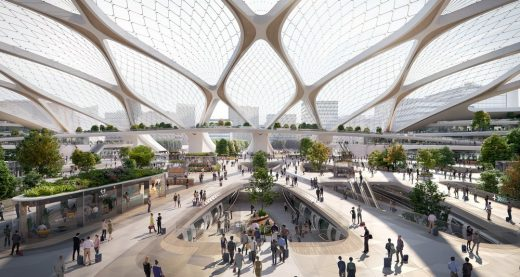 Hardt Hyperloop station design by UNStudio