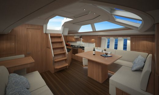 Blue Water Sailing Yacht interior by Oyster Yachts