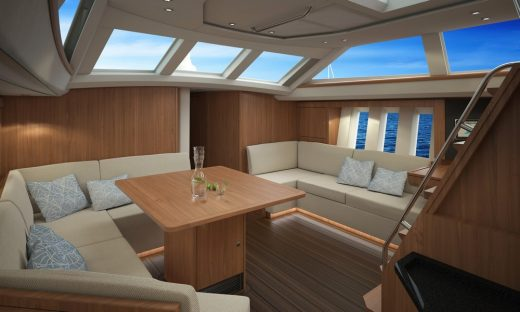 Luxury Blue Water Sailing Yacht interior by Oyster Yachts UK