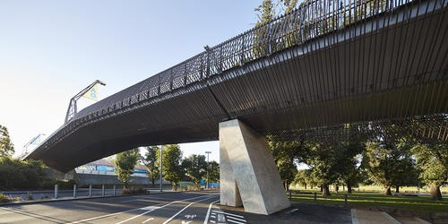 Tanderrum Pedestrian Bridge in Melbourne