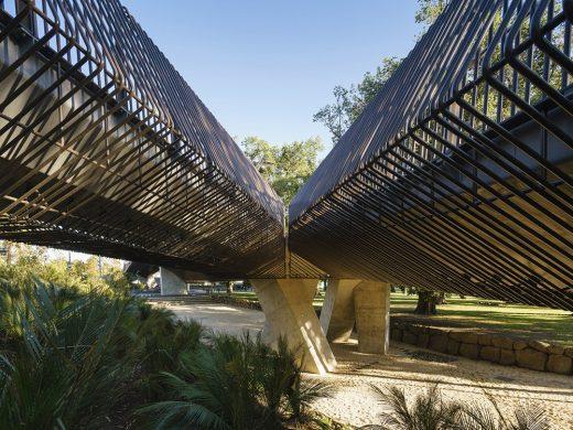 Tanderrum Pedestrian Bridge in Melbourne