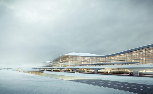 Yantai International Airport Terminal 2 in the Shandong Province