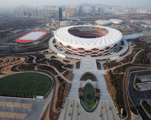 Zaozhuang Stadium in the Shandong Province
