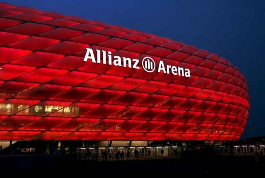 Allianz Arena building facade lighting
