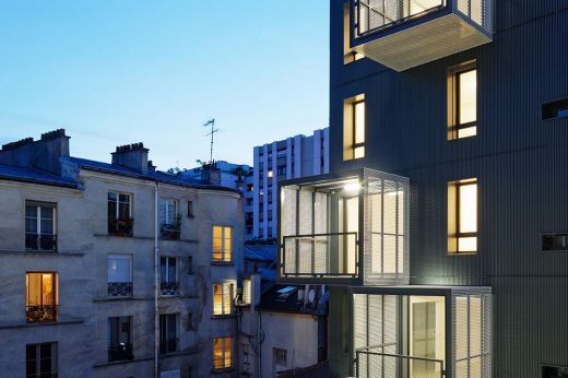 Belleville Social Housing and Shop in Paris