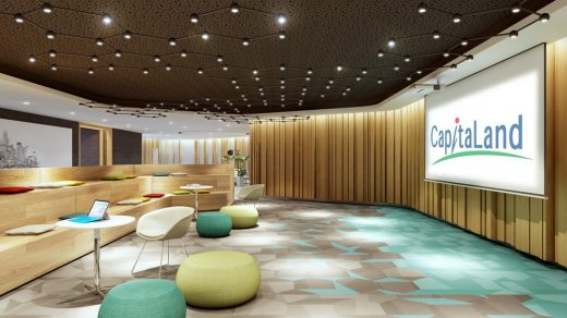Capitaland Office of the Future Singapore interior design
